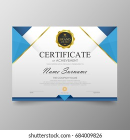 Certificate Premium template awards diploma background vector. Modern value design and luxurious layout cover leaflet. Elegant horizontal Illustration in size pattern.