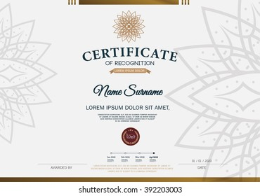 certificate achievement frame design template のベクター画像素材