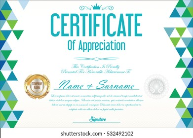 certificate retro design template - Certificate Border Design Templates