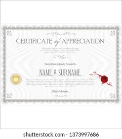 certificate retro template