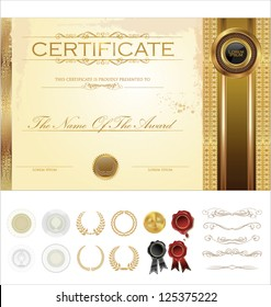 Certificate template with additional design elements