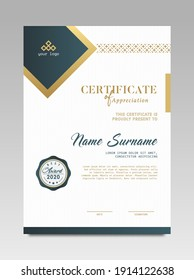 Certificate template awards diploma background vector modern design simple elegant and luxurious elegant. layout vertical in A4 size