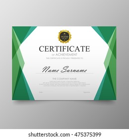 certificate template awards diploma background vector modern value design and luxurious elegantillustration layout cover