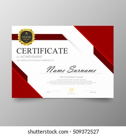 Certificate template awards diploma background vector modern value design and luxurious elegant.Illustration layout cover leaflet horizontal in A4 size pattern.