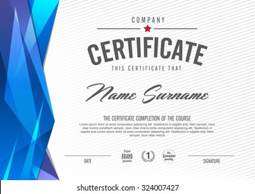 certificate template with clean and modern pattern - Modern Certificate Template