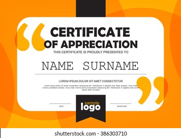 certificate template with clean and modern pattern,quote and note,Vector illustration