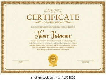 Certificate Template Images, Stock Photos & Vectors