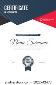 Certificate template, diploma. Vector illustration