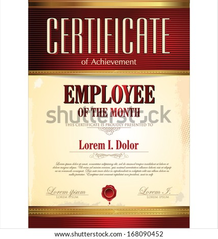 certificate template employee of the month - Certificate Of Employee Of The Month Template