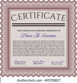 Certificate Template Eps 10 Jpg Achievement Diploma Stock Vector
