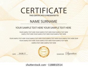 certificate appreciation template award ribbon on stock vector