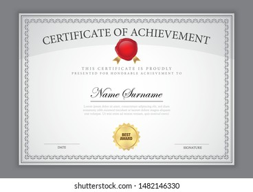 Certificate template luxury design with text element,diploma,vector illustration.