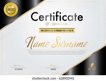 Certificate template luxury and diploma style,vector illustration.EPS10.