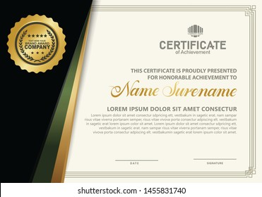 certificate template with luxury and elegant pattern,diploma,Vector illustration