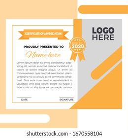 certificate template with luxury and modern pattern,diploma and award certificate, professional certificate