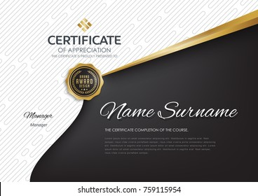 certificate template with luxury and premium pattern,diploma,Vector illustration