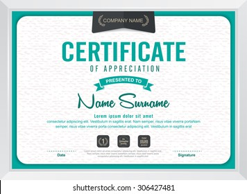 certificate template with modern pattern,diploma,Vector illustration