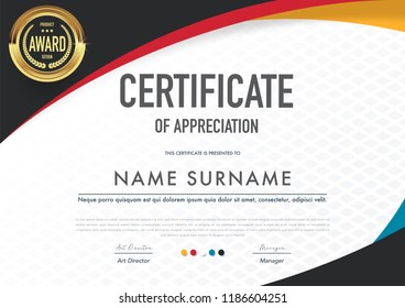 Certificate template modern,luxury and diploma style,vector illustration.