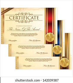 Certificate template set