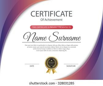 Certificate template, vector