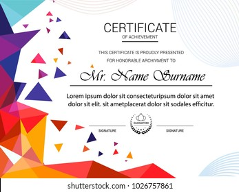 Certificate template, vector illustration.