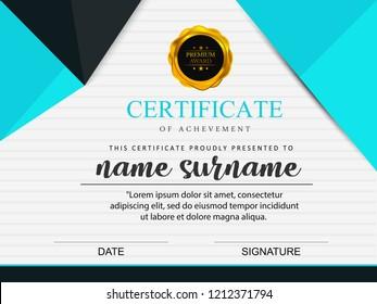 certificate template Vector illustration