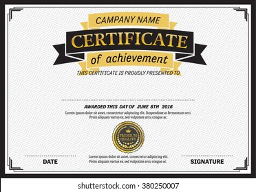 certificate template of vector illustration