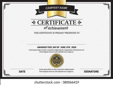 certificate template vector illustration design for company