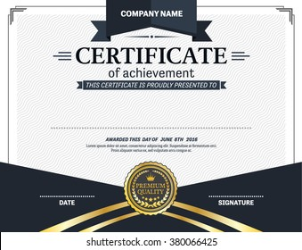 certificate template vector illustration design