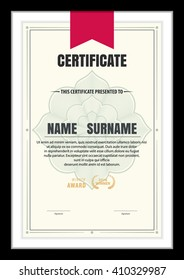 certificate template,abstract diploma layout,vector