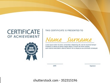 certificate template,diploma layout,A4 size ,vector