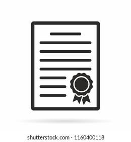 Certificate vector icon