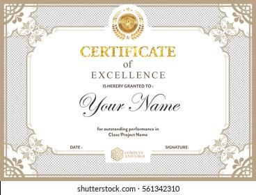 Certificate vector luxury template,