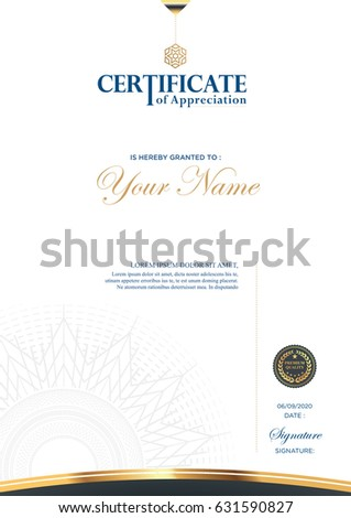 Certificate Vector Luxury Template Stock Vector Royalty Free