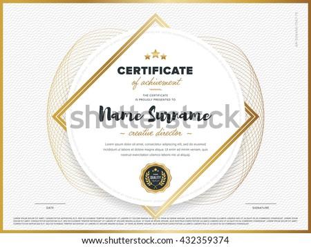 certificate vector template design diploma design のベクター画像