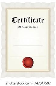 certificate vintage style portrait
