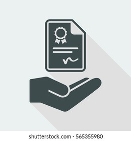 Certification services - Vector icon