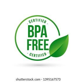 certified bpa bisphenol free icon logo symbol