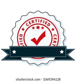 Certified label illustration