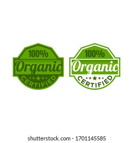 Certified organic stamp on white background, vector illustration EPS.10