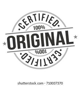 Certified Original Stamp Design Vector Art