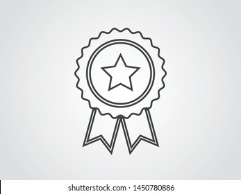 Certified Service Quality Product Best Rate Icon Symbol Outline