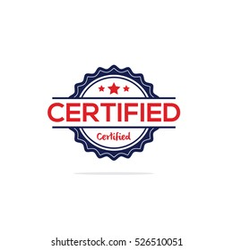 Certified stamp vector, Certified label
