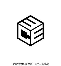 CEW letter logo design with white background in illustrator,eps cube logo, vector logo modern alphabet font overlap style. calligraphy designs for logo, Poster, Invitation, etc.