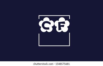 CF abstract vector logo monogram template