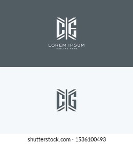 CF CG monogram Logo Set modern graphic design, Inspirational logo design for all companies. -Vectors