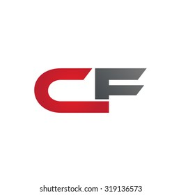 CF company group linked letter logo