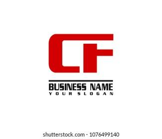 CF company linked letter logo