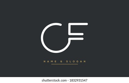 CF ,FC ,C ,F  Abstract Letters Logo Monogram