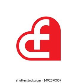 CF Heart Logo, CF Fitness Logo, CF Dumbbell Logo